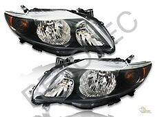 Black Headlights For 09-10 Toyota Corolla S/ XRS Style RH + LH