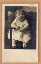 Carte Photo vintage card RPPC enfant bébé robe mode fashion kh0207
