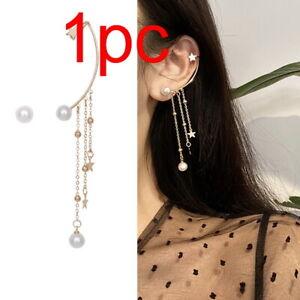 1PC Crystal Clip Ear Cuff Stud Women Men Punk Wrap Cartilage Earring Wholesale