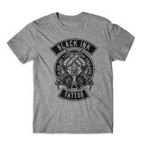 Black Ink Tattoo T-Shirt 100% Cotton Premium Tee New