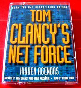 Tom Clancy's Net Force Hidden Agendas 2-Tape Audio Book Kerry Shale Thriller