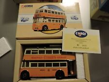 CORGI  DIE CAST 1/50TH SCALE NEWCASTLE UPON TYNE KARRIER W4 TROLLY BUS # 97870