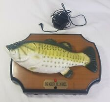 Big Mouth Billy Bass Vintage Singing Animated Fish Plaque Gemmy 1999