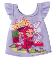 NEW Barbie Teen Titans Go Fashion Pack Purple Top With Characters Prints