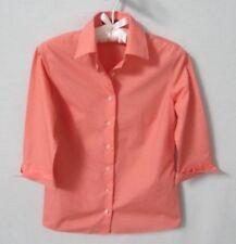 Lands' End Petites peach wrinkle free cotton blend 3/4 sleeve blouse *Sz 0P*