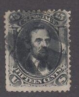 USA Scott #77  15 cent Abraham Lincoln black  F