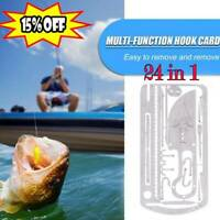 EDC Hunting Fishing Wilderness Survival Card Hooks Spoons Saw Arrow Multi Tool
