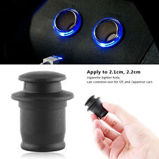 Black Cigarette Lighter Power Socket Plug Outlet for Auto Car Dust Cover Cup AM