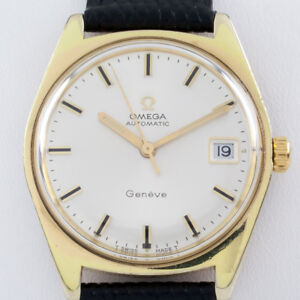 Omega Ω Gold-Plated Automatic Geneve Men's Watch Mov #563 116.041 w/ Date
