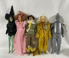 5 Vintage WIZARD OF OZ action figures dolls Scarecrow, Tinman, Lion And Witches