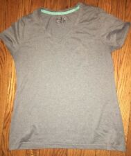 Be Inspired Shirt Top Gray Polyester Workout Athletic Running Small S EUC 4232