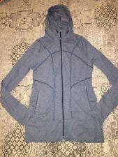 EUC Athleta Women's Rishi Jacket Ink Blot Blue Size Medium hooded zip up