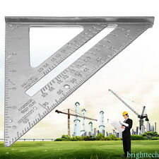 "7"" Metal Speed Square Protractor Miter Framing Measurement Ruler For Carpenter R"