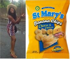 Lot of 5 St. Mary's Banana Chips Cheese and Onion Flavor 35g 5 Bags