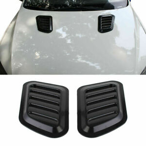 Universal Black Car Decorative Air Flow Intake Scoop Vent Cover Hood Fenders