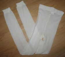 WHITE SHEER FLORAL DESIGN - GIRLS' FOOTLESS TIGHTS -  12/14