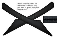 BLACK STITCH 2X A PILLAR SKIN COVER FITS VAUXHALL OPEL VECTRA C SIGNUM 02-08