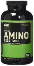 OPTIMUM NUTRITION SUPERIOR AMINO 2222 160 TABS FULL AMINO ACID SPECTRUM bb 03/20