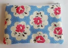 Cath Kidston Provence Rose Blue Fabric Handmade Zippy Coin Purse Storage Pouch