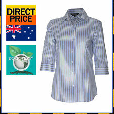 Women's Casual Striped 100% Cotton Tops & Blouses