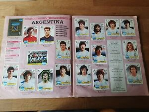 Italia 90 World Cup Panini,Hojas Equipo Argentina completo original.Maradona.