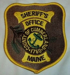 NEW Embroidered Uniform Patch SHERIFF'S OFFICE CUMBERLAND COUNTY MAINE ANCHOR