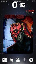 Topps Star Wars Digital Card Trader Black Art Of Darth Maul Insert