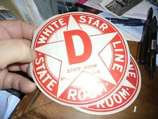 Autocollant Etiquette Bagage ? Compagnie Maritime White Star Line State Room