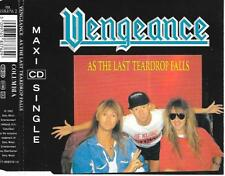 VENGEANCE - As the last teardrop falls CD SINGLE 3TR Hard Rock 1992 Holland RARE