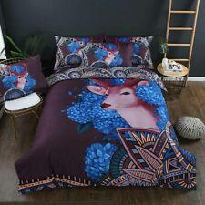 100% Cotton Bedding Set Bed Sheet Duvet Cover Pillowcase 3D Printed Home Textile
