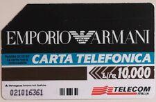 SCHEDA TELEFONICA EMPORIO ARMANI L. 10.000 (487) -