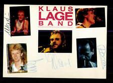 Klaus Lange Band  Autogrammkarte Original Signiert ## BC 95899