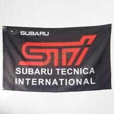 New Car Racing Banner Flag for Subaru Tecnica Flag Wall Deco Garage 3x5ft Black
