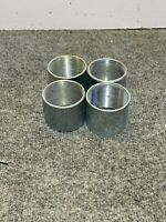 "Lot of 4  NOS 2"" x 2"" Length Female Steel Coupling Fitting"