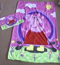 Licensed Peppa Pig Single Quilt Doona Cover Good USED condition