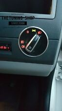 Para VW T5 Transporter Multivan Caravelle 2010-2016 Cromo Anillo para Interruptor de luces