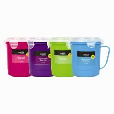 Microwave Soup Mug 750ml Cup Travel Camping Coffee Hot Drink Assorted Colours