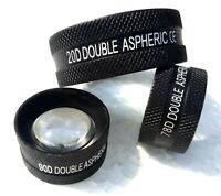20D, 90D and 78D Non Contact Aspheric Slit Lamp Lens Set of Three Free Shipping