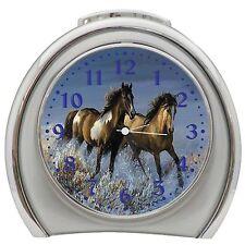 Running Horse Alarm Clock Night Light Travel Table Desk