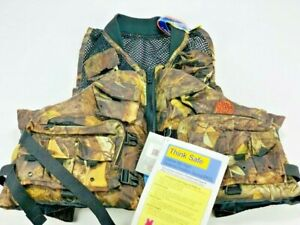 Master Sportsman Fishouflage Fishing Vest Size Adult 2X/3X New With Tag