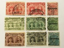 old stamps  RHODESIA  x  9