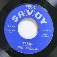 Black Gospel Soul 45 James Cleveland - It'S Real / Down By The River On Savoy