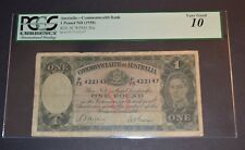 PCGS Graded Australia-Commonwealth Bank 1 Pound ND(1938) Banknote Very Good 10