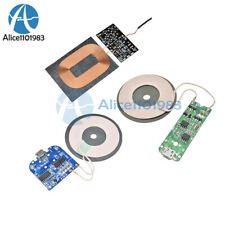 Wireless Charger Receiver Transmitter Module PCBA Board w/ Universal Coil +LED