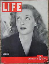 LIFE Jan 23, 1939 Bette Davis, 1939 Mexico, Ethel Waters, Coke ad, Artie Shaw