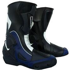 bottes italienne moto 35 36 37 38 39 40 41 42 43 44 45 46 47 48 noir blue NEUF