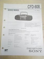 Sony Service Manual~CFD-808 CD Radio Cassette-Corder Boombox~Original~Repair