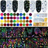 Christmas Nail Art Foils Wraps Set Transfer Glitter Stickers Decal Decorations