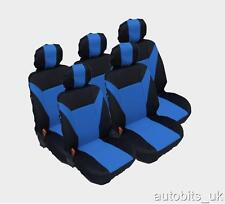 BLUE 5X FABRIC FULL SET SEAT COVERS 5 SEATER CITROEN C8 XSARA PICASSO BERLINGO