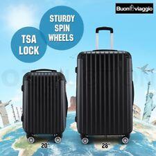 2PCS Luggage Suitcase Trolley Set Hard Case TSA Lightweight Travel Organiser Bag